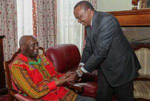 Kenyatta greet Moi